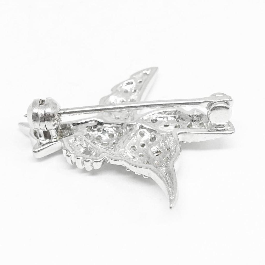 Diamond Bird Brooch - Brooches & Pins