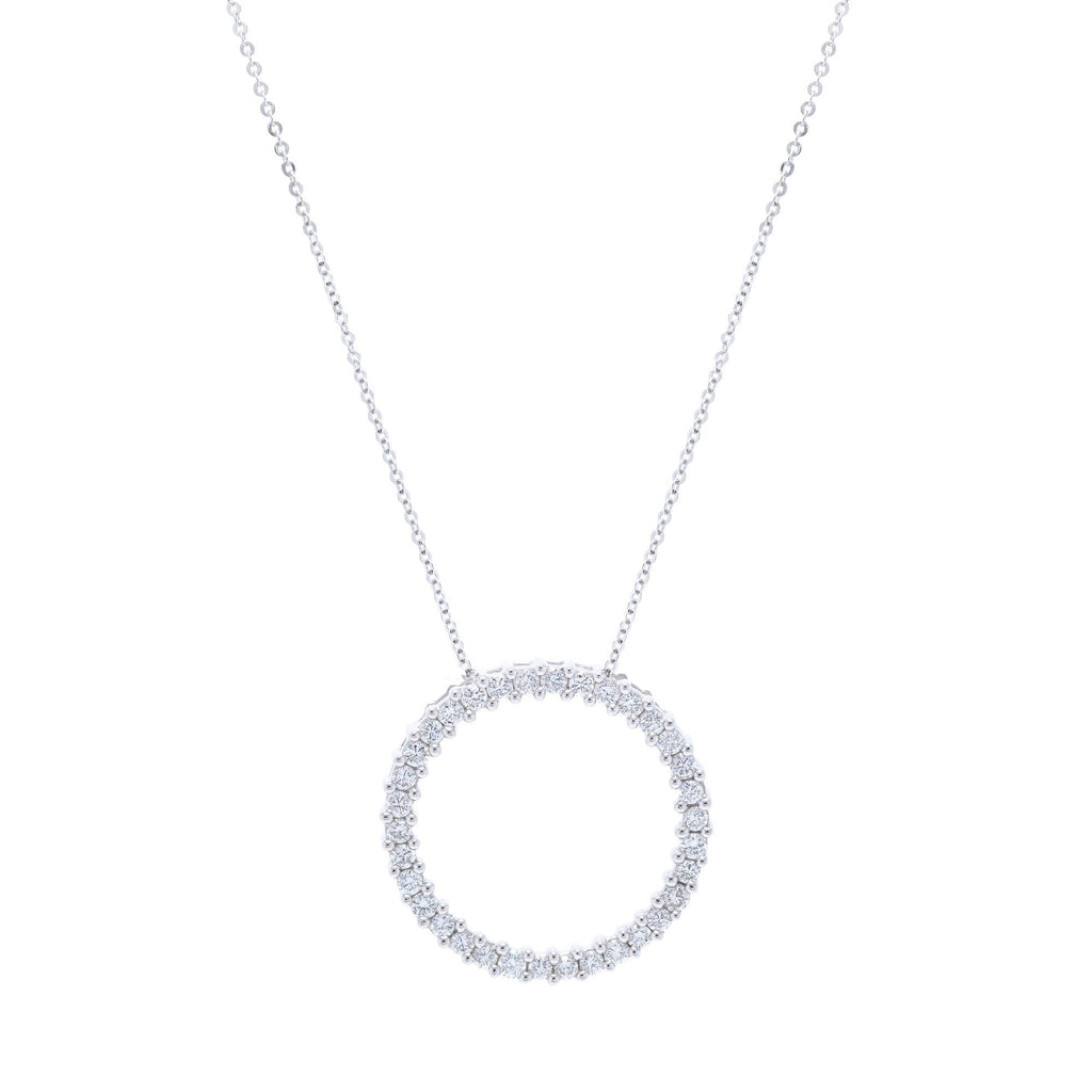 Diamond Circle Pendant Necklace Necklaces Miscellaneous