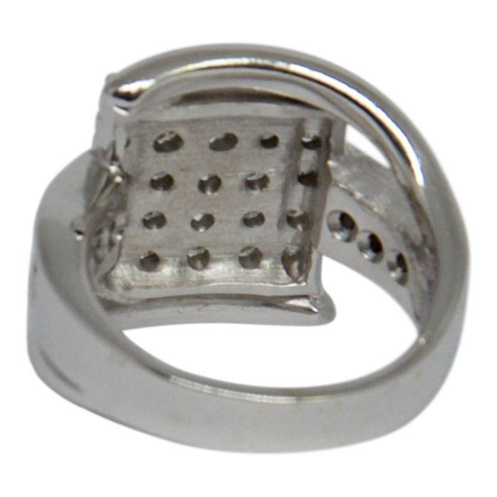 Diamond Cluster Square Top Ring Rings Miscellaneous