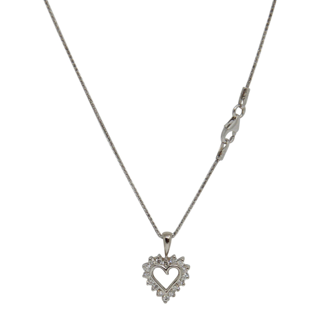 Diamond Heart Pendant Necklace Necklaces Miscellaneous