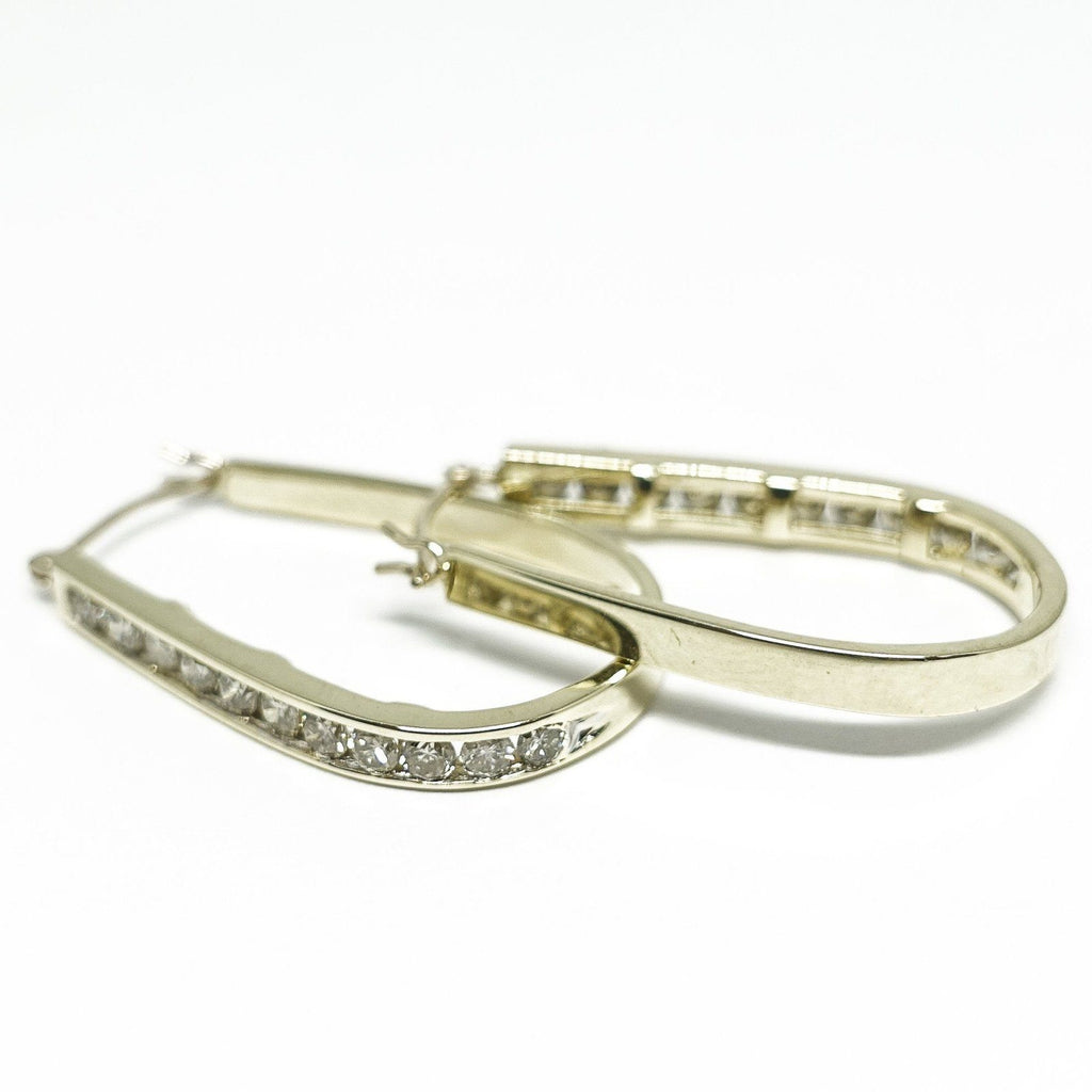 Diamond Hoop Earrings - Necklaces