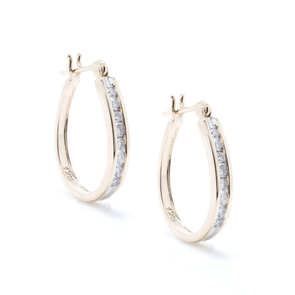 Diamond Hoop Earrings Earrings Miscellaneous