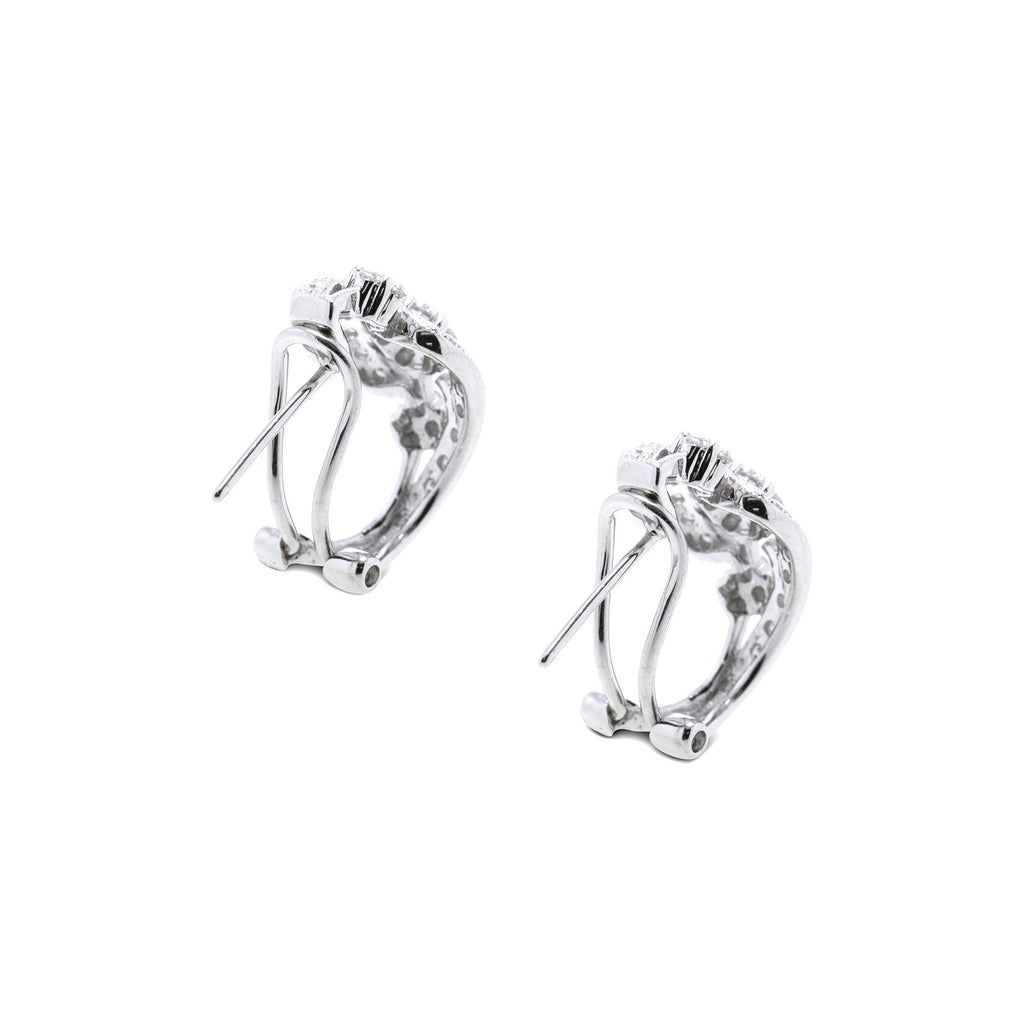 Diamond Huggie Hoop Earrings Earrings Miscellaneous