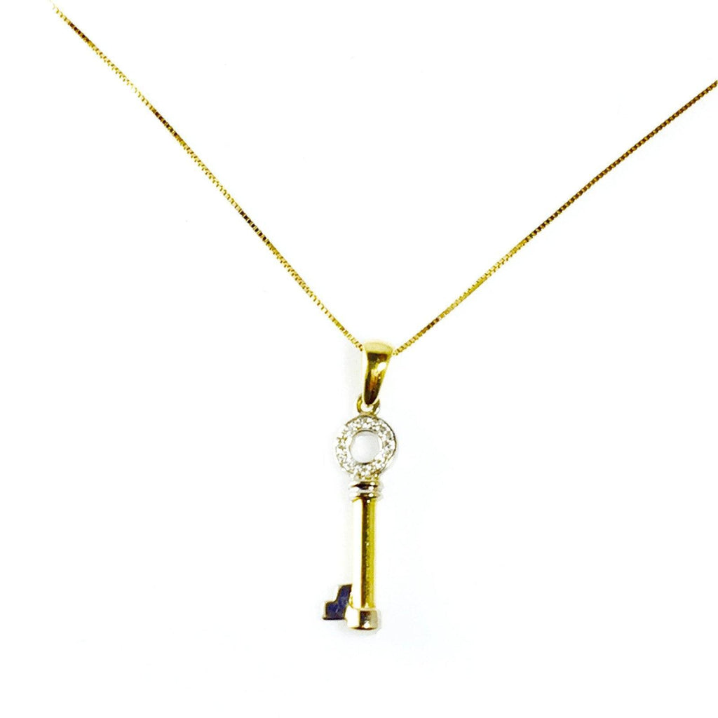 Diamond Key Pendant Necklaces Miscellaneous