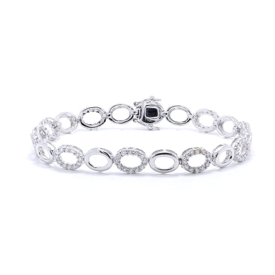 Diamond Oval Link Bracelet Bracelets Miscellaneous