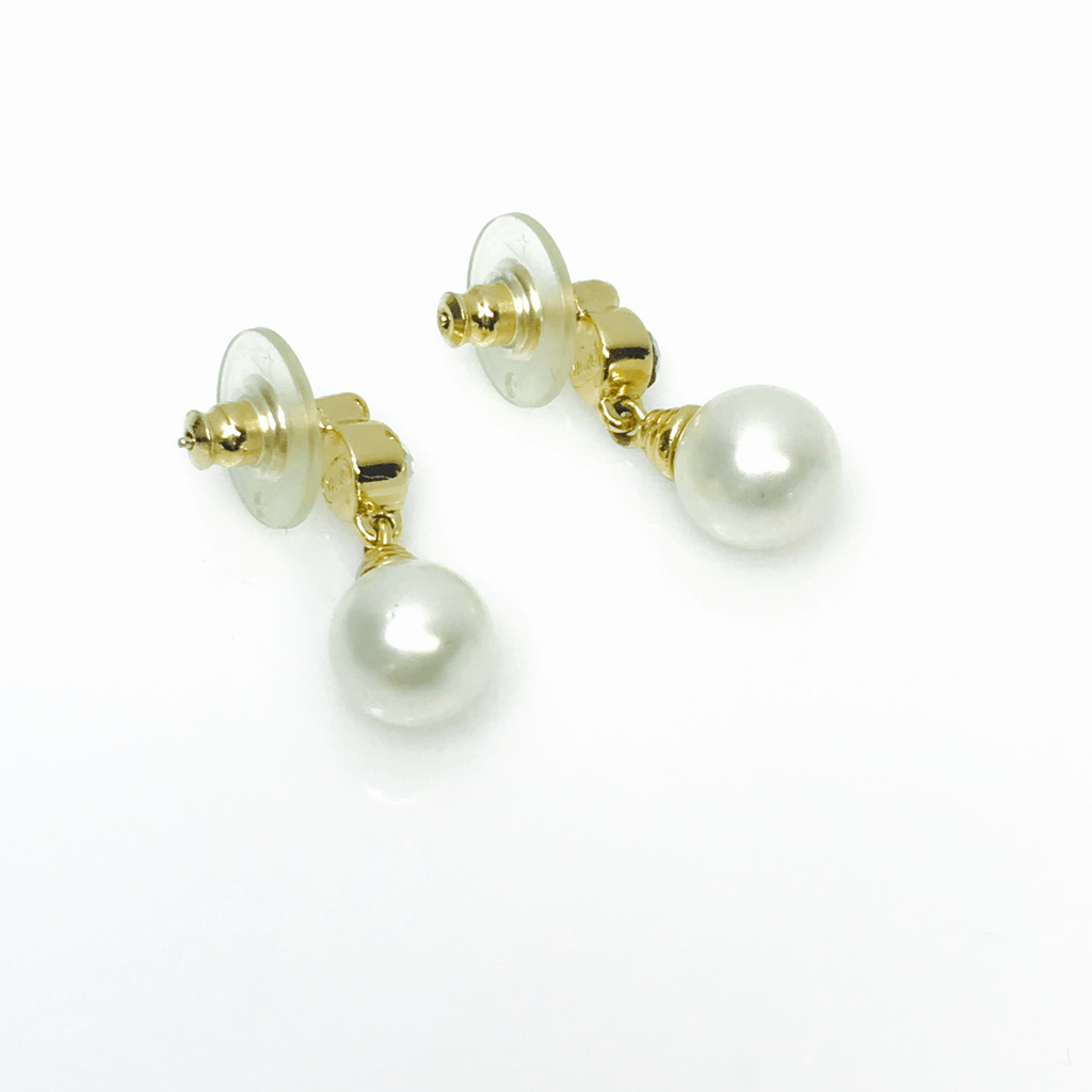 Dior Crystal and Faux Pearl Drop Earrings Earrings Dior