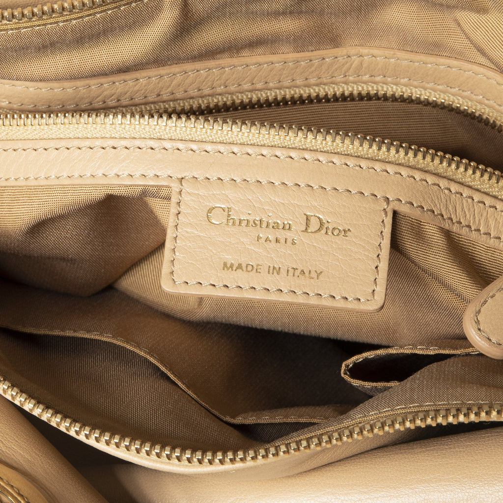 Dior Nude Cannage Lambskin Leather Granville Bags Dior
