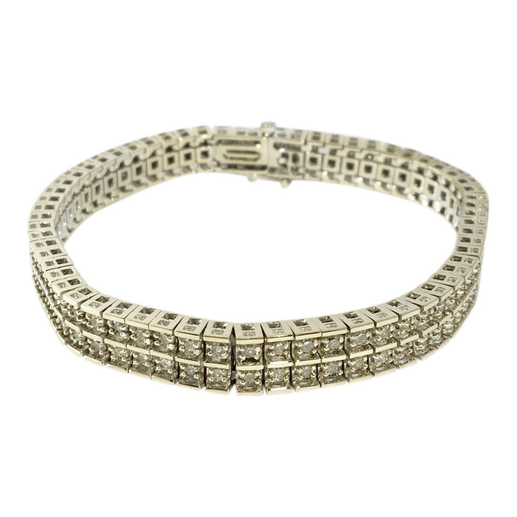 Double Row Diamond Tennis Bracelet - Bracelets