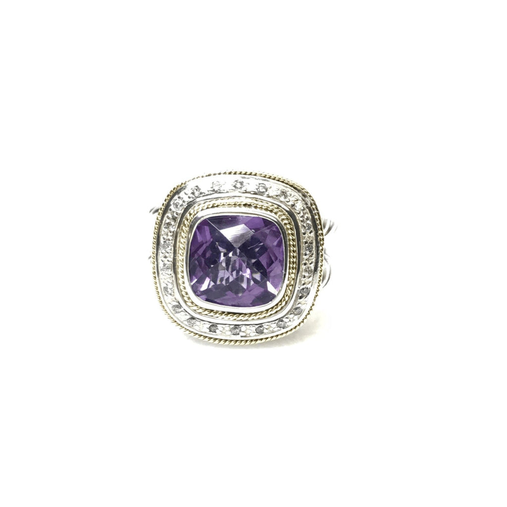 Effy Amethyst And Diamond Balissima Ring - Rings