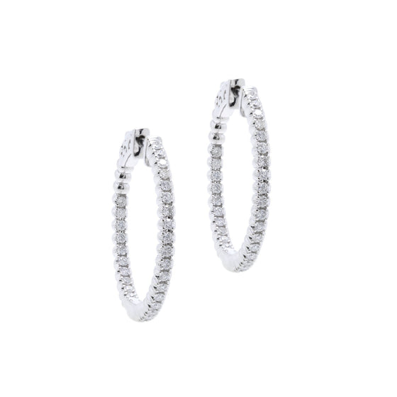Effy Diamond Hoop Earrings Earrings EFFY