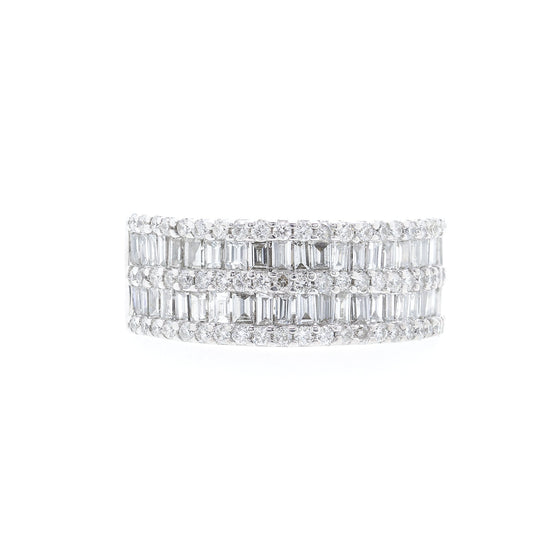 Effy Five-Row Diamond Band Ring Rings EFFY