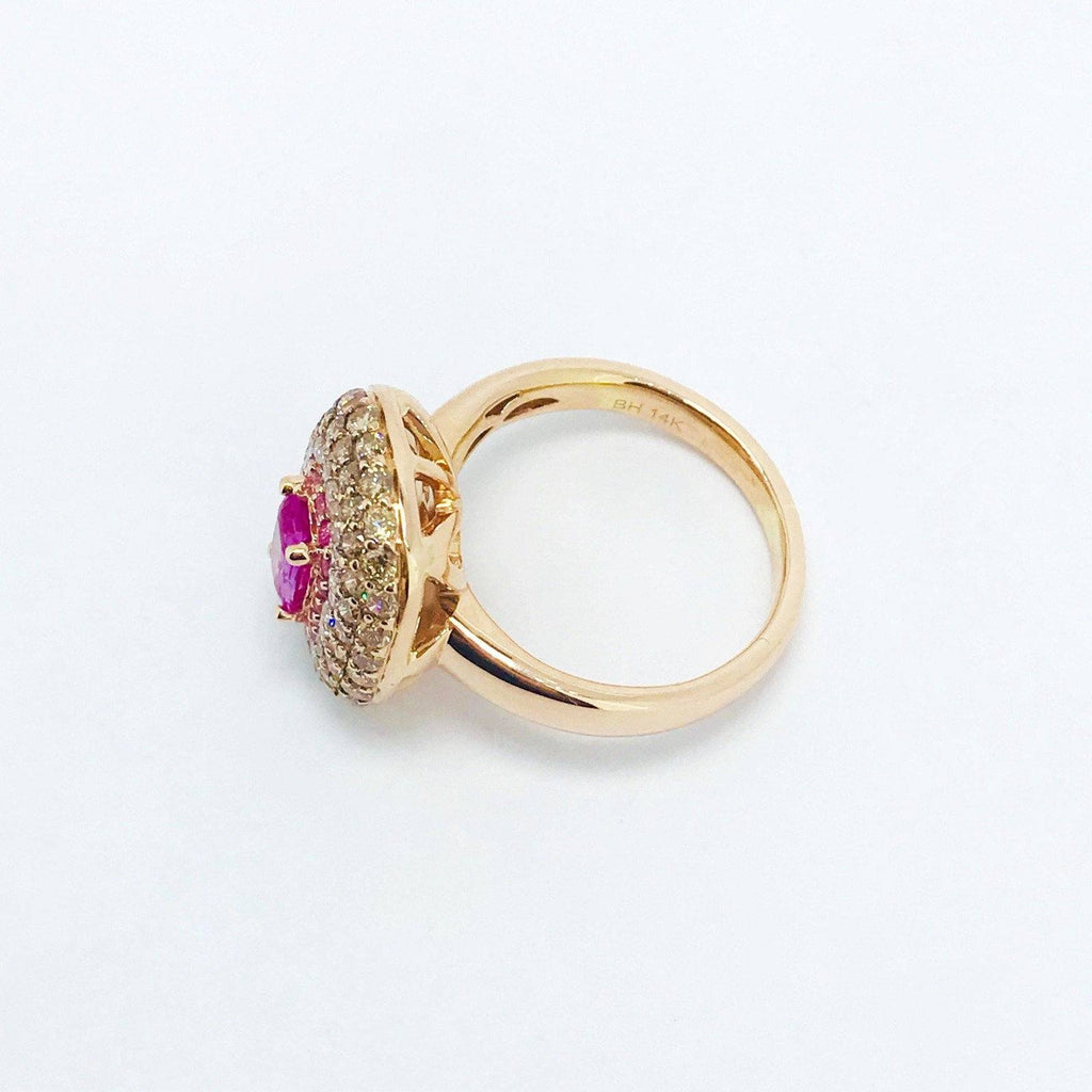 Effy Pink Sapphire And Diamond Ring - Rings