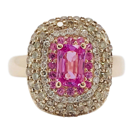 EFFY Pink Sapphire and Diamond Ring Rings EFFY