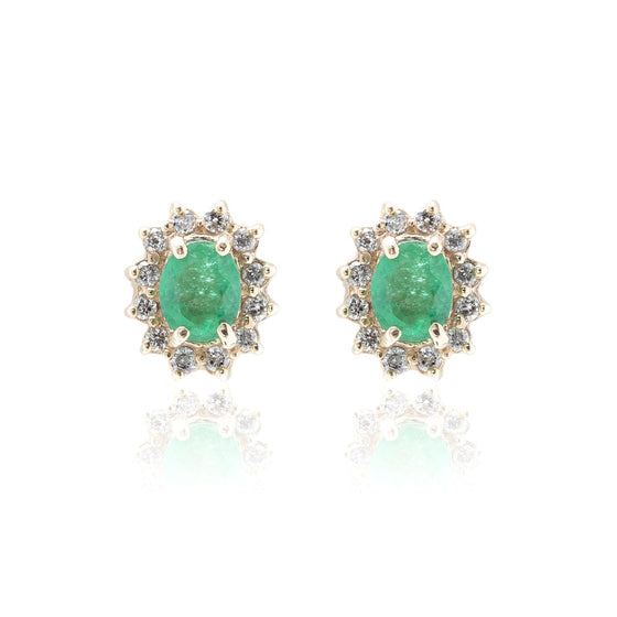 Emerald and Diamond Earrings Earrings Miscellaneous
