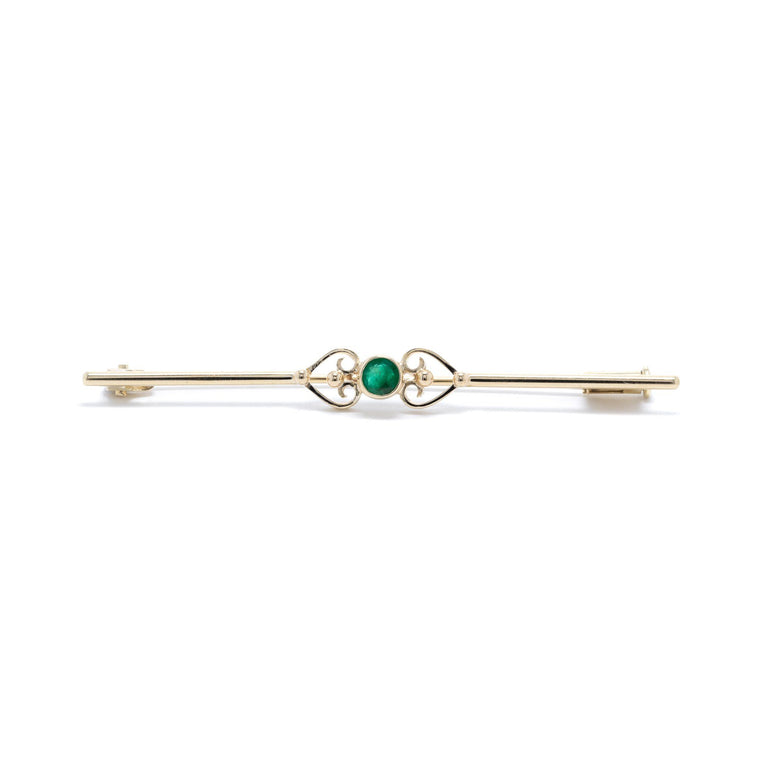 Emerald Bar Brooch Brooches & Pins Miscellaneous