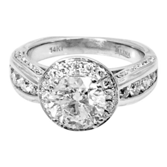 Estate 1.42Ct Round Diamond Engagement Ring - Rings