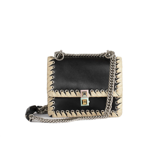 Fendi Kan I Ribbon Whipstitch Small Shoulder Bag Bags Fendi