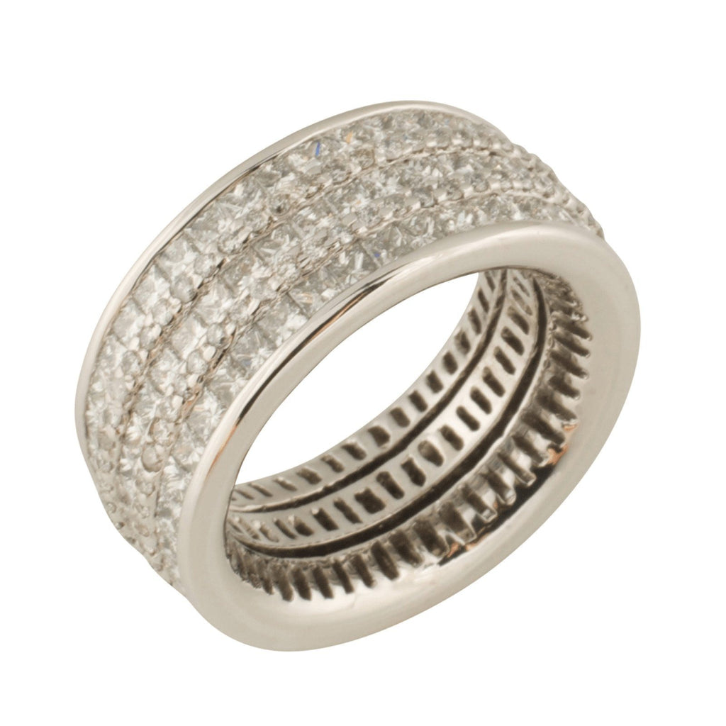 Five Row Diamond Eternity Band Rings Miscellaneous