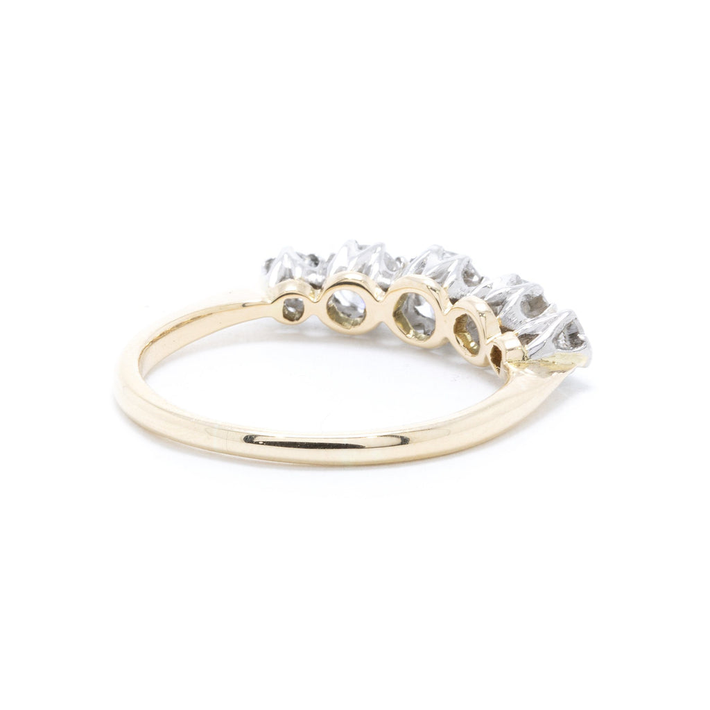 Five Stone Diamond Band Ring Rings Miscellaneous