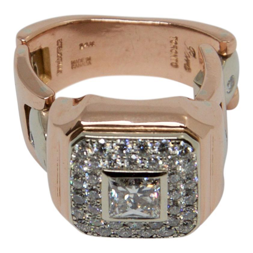 Gent's Diamond Link Ring Men's Jewellery Miscellaneous