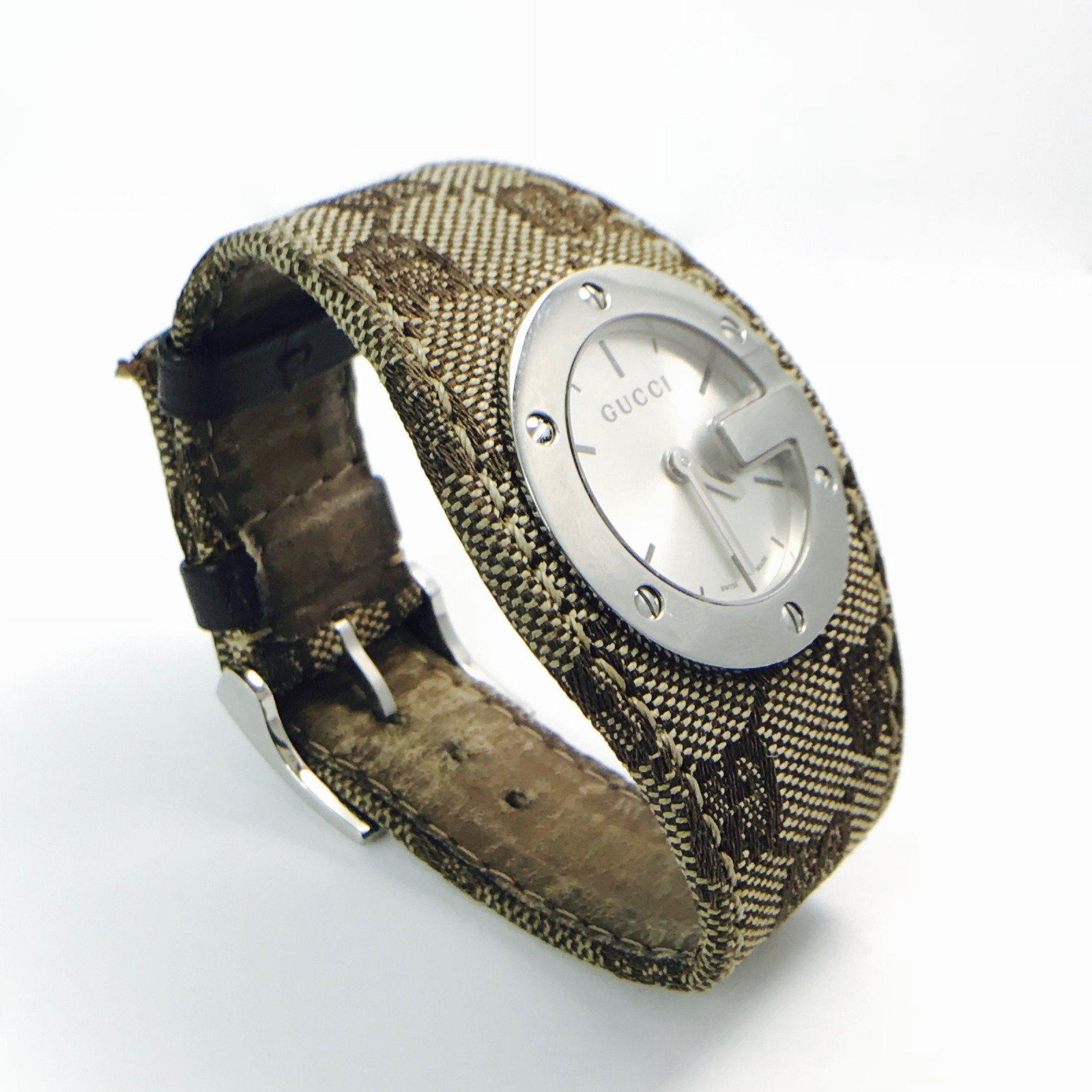 fb45a8f25c Gucci 104 G-Bandeau Quartz Wrist Watch in Stainless Steel– Oliver ...