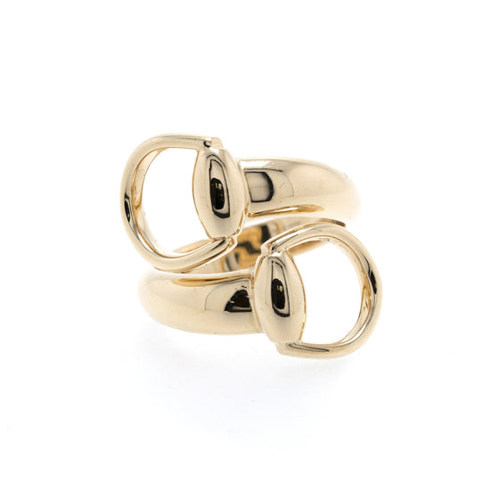 Gucci 18k Gold Horsebit Cocktail Ring Rings Gucci