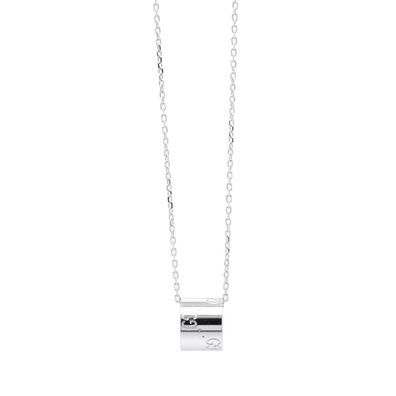 Gucci 18k White Gold Icon Pendant Necklace Necklaces Gucci