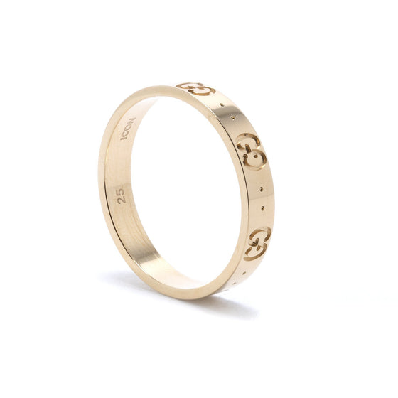 Gucci 18k Yellow Gold Icon Thin Band Ring Rings Gucci