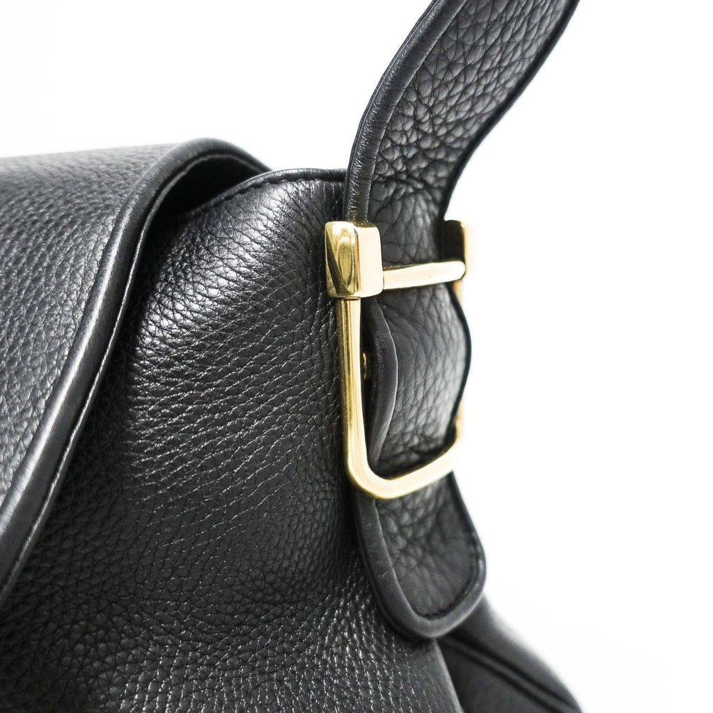Gucci 1973 Black Leather Shoulder Bag - Bags