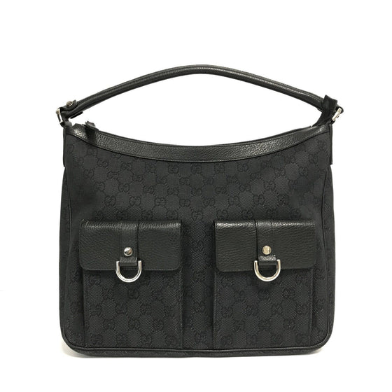 Gucci Black GG Abbey Hobo Bag Bags Gucci