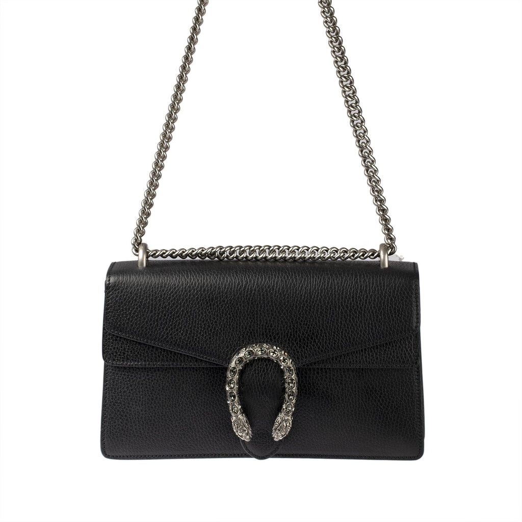 Gucci Black Leather Dionysus Small Shoulder Bag Bags Gucci