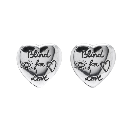 "Gucci ""Blind for Love"" Heart Stud Earrings Earrings Gucci"