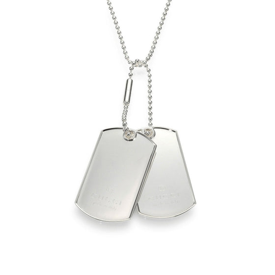 776f4aa2e Gucci Double Dog Tag Pendant Necklace– Oliver Jewellery