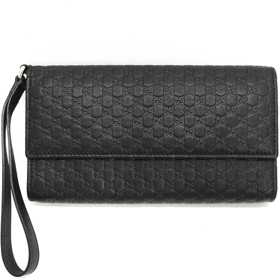 Gucci GG Guccisima Leather Travel Wristlet Wallet Wallets Gucci