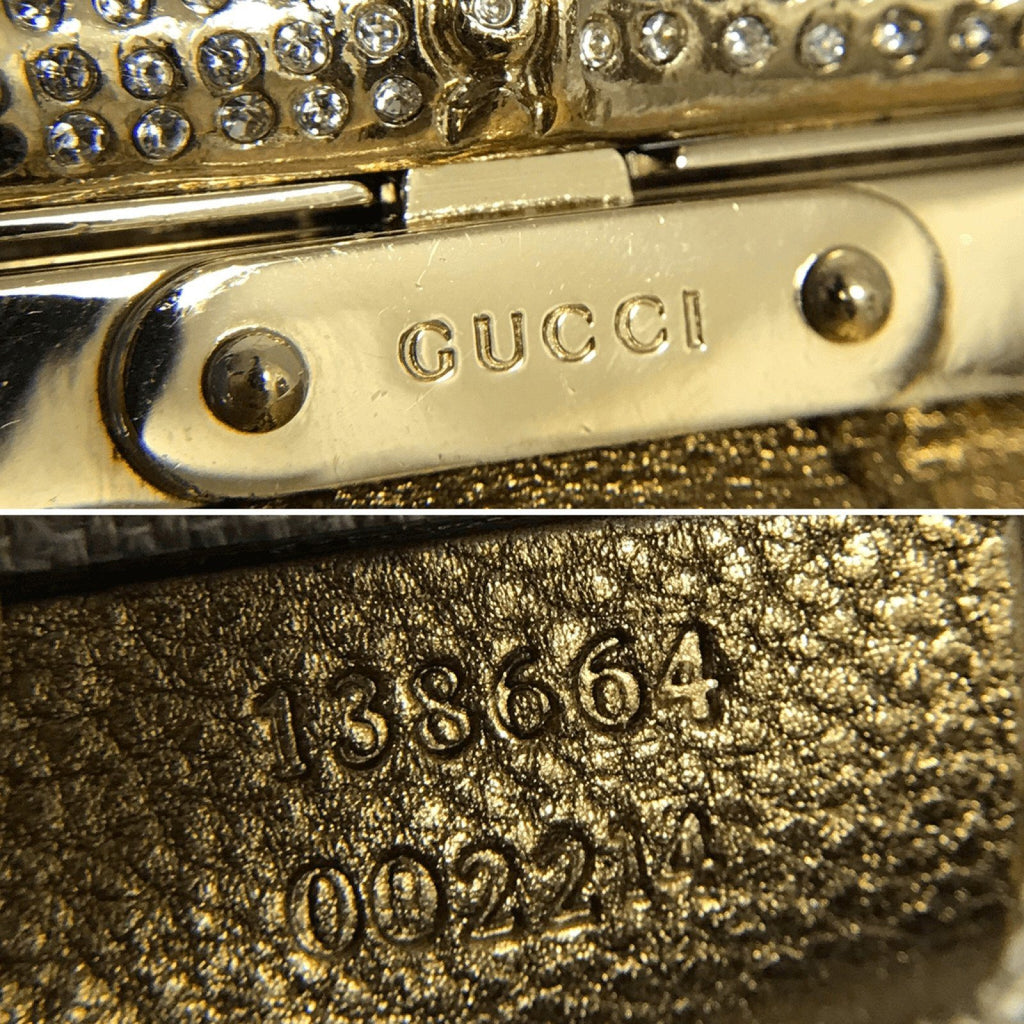 Gucci Gold Le Gold Swarovski Bamboo Chain Eveneing Bag - Bags