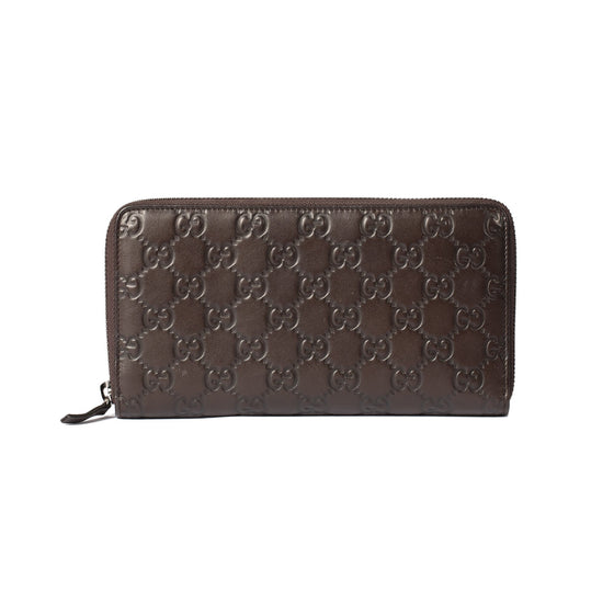 Gucci Guccissima Signature Continental Zip Around Wallet Wallets Gucci