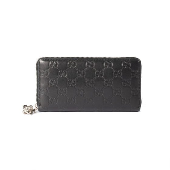 Gucci Guccissima Signature Twins Zip Around Wallet Wallets Gucci
