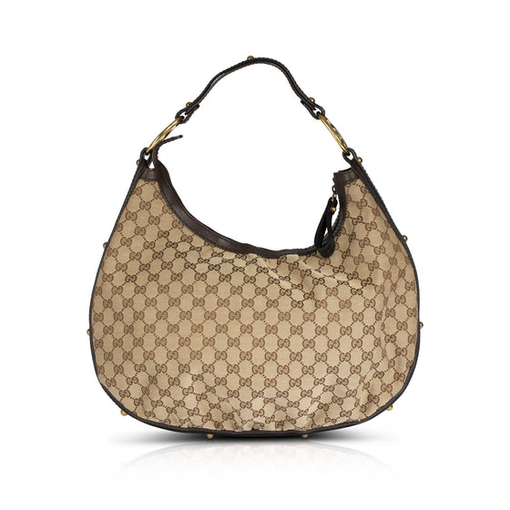 Gucci Medium Interlocking GG Canvas Hobo Bags Gucci