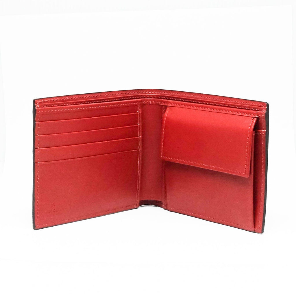 Gucci Mens Red Signature Web Wallet - Wallets
