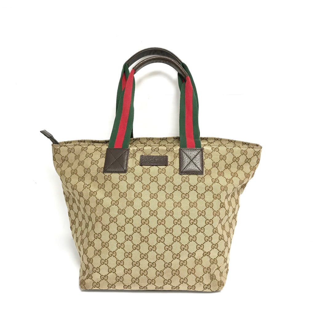 Gucci Monogram Large Web Handle Tote - Bags
