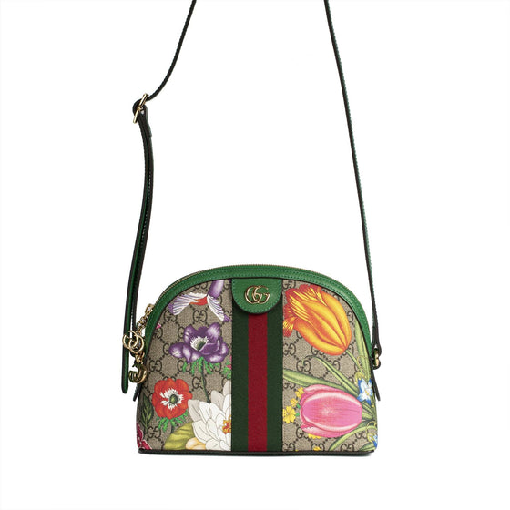 Gucci Ophidia GG Flora Small Shoulder Bag Bags Gucci