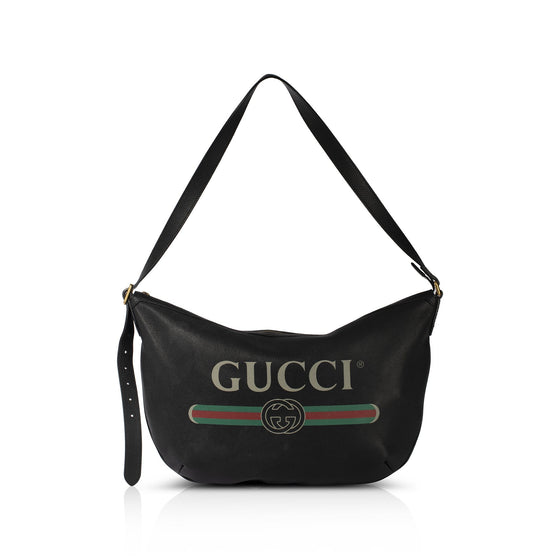 Gucci Print Large Half-Moon Hobo Bags Gucci