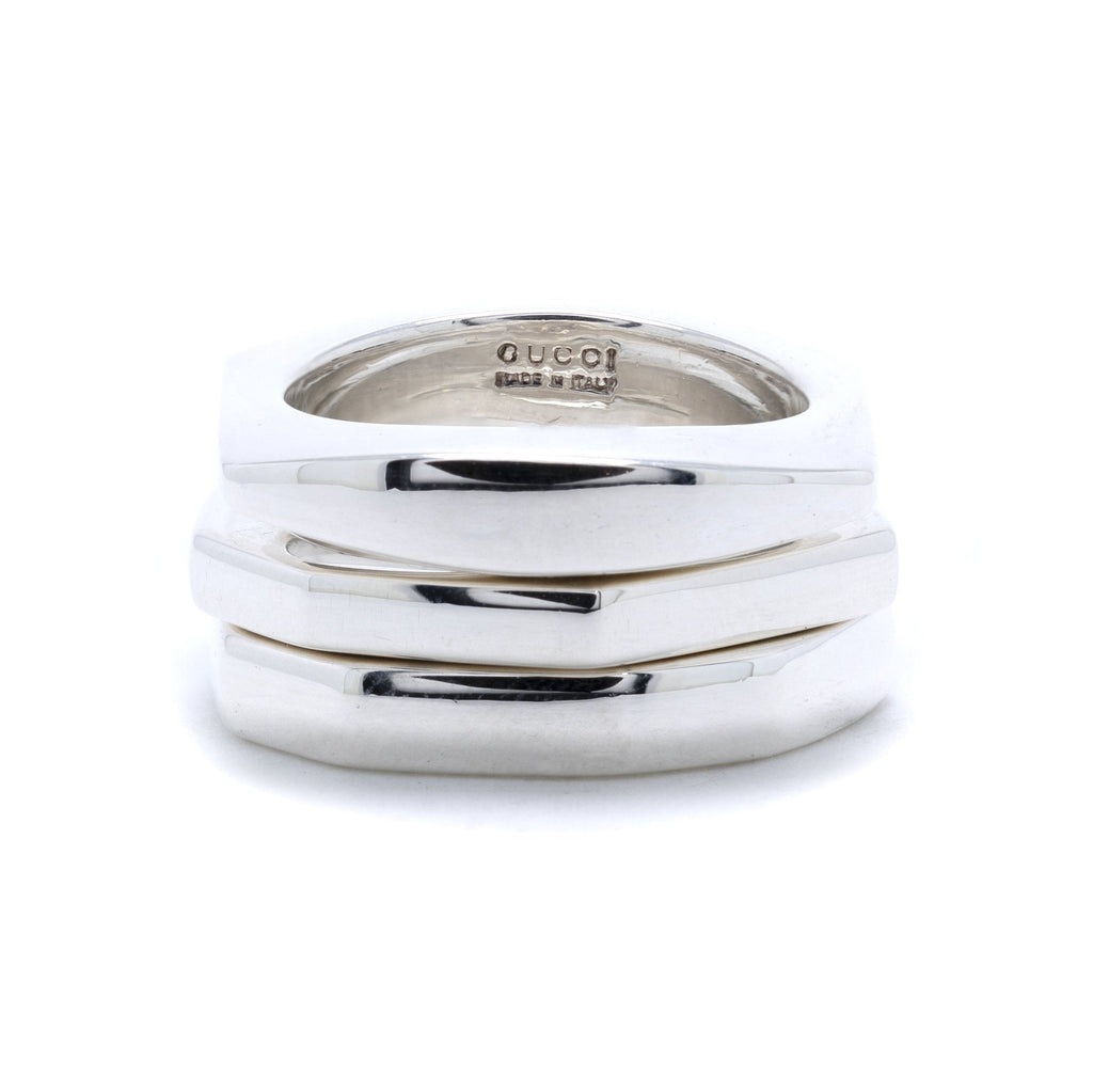 Gucci Set of Three Stackable Bands Rings Gucci