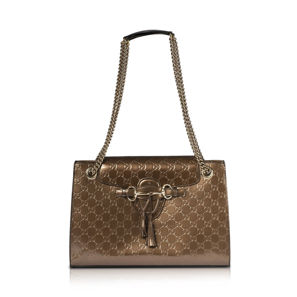 Gucci Signature Large Emily Chain Shoulder Bag Bags Gucci
