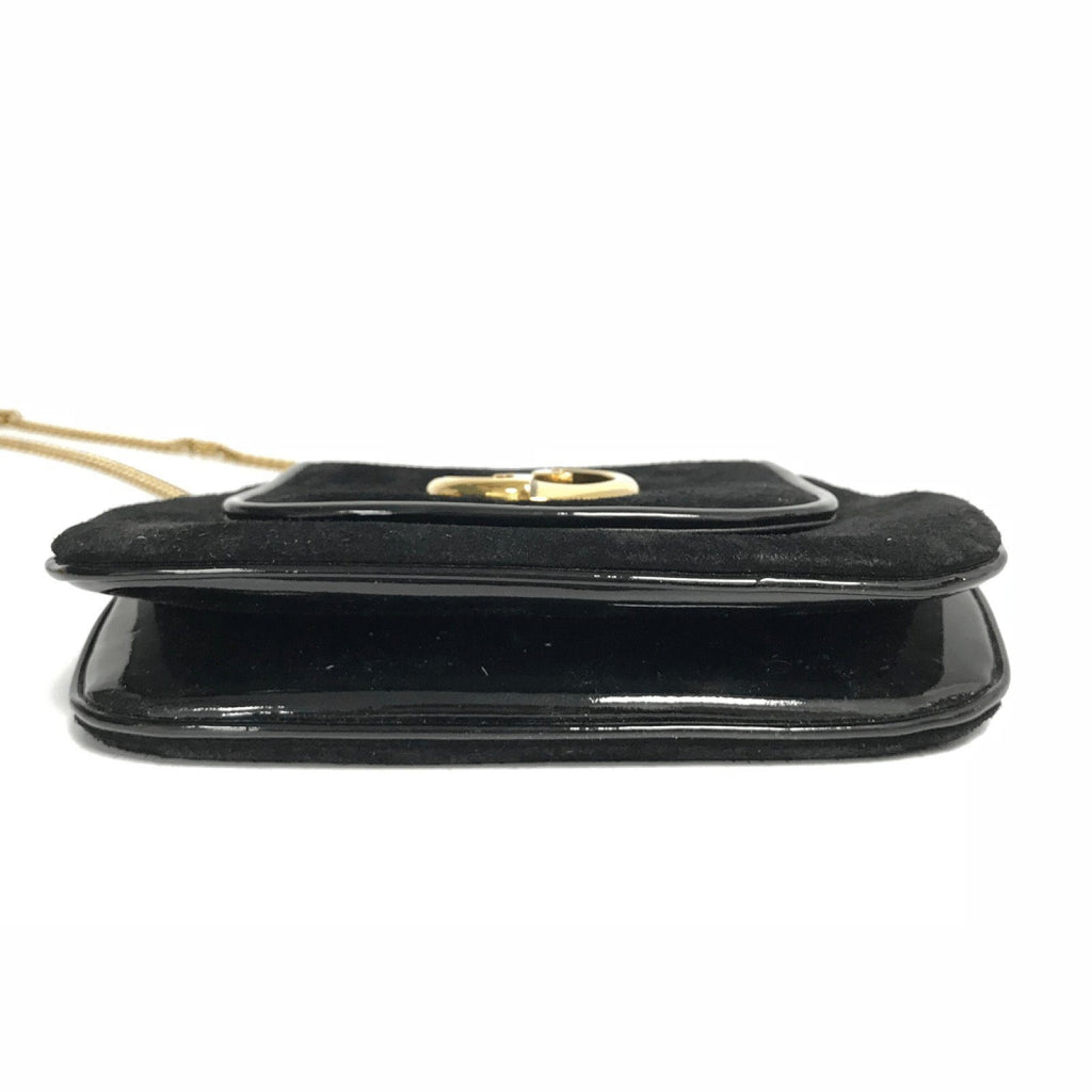 Gucci Small 1973 Black Suede Shoulder Bag - Bags