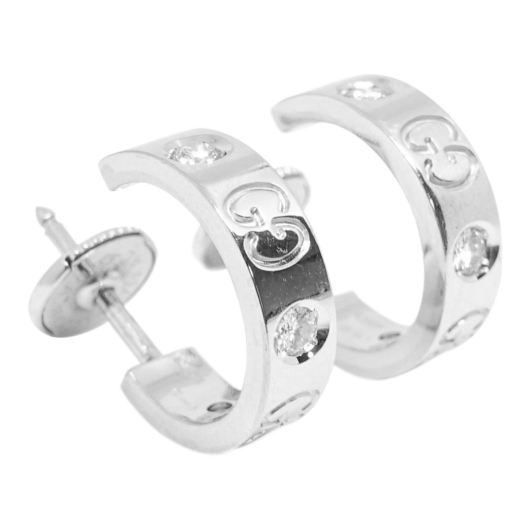 20018f85ae9 Gucci Small Icon Diamond Hoop Earrings - Oliver Jewellery