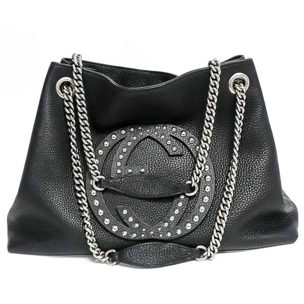 Gucci Studded Soho Shoulder Bag - Bags