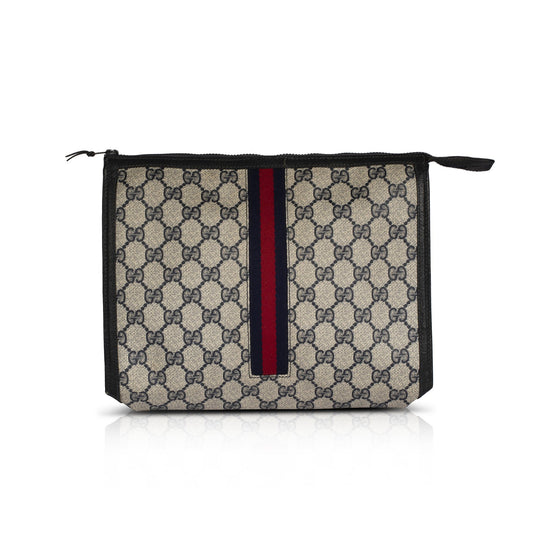 Gucci Vintage GG Plus Web Cosmetic Bag Bags Gucci