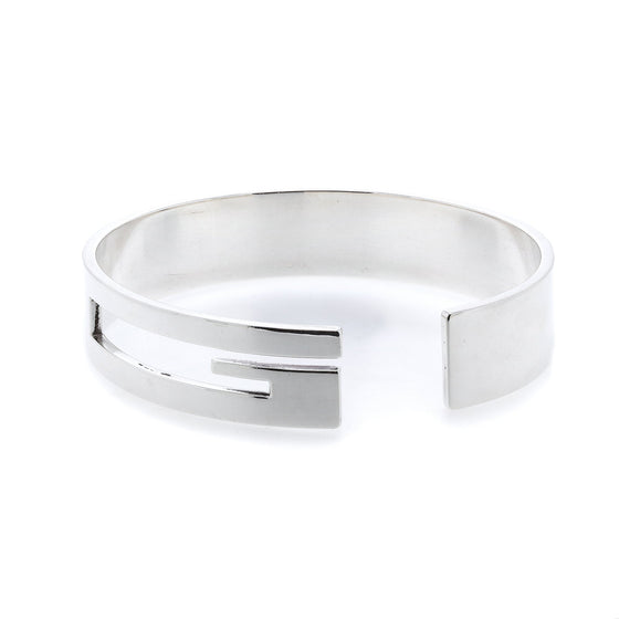 Gucci Wide Cutout Logo Cuff Men's Jewellery Gucci