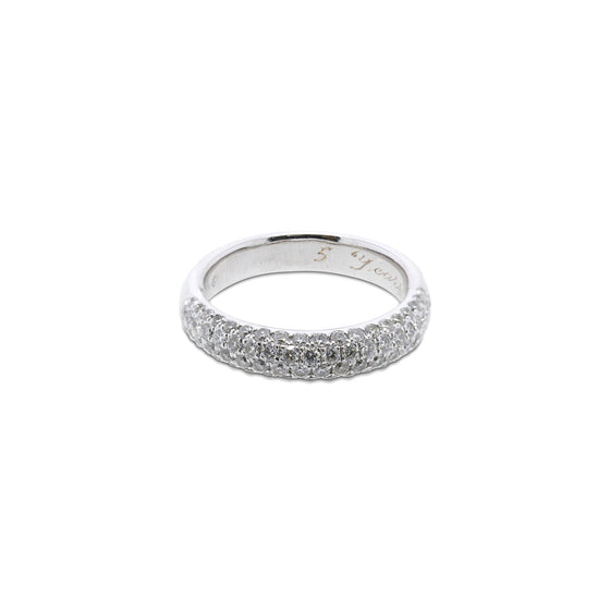 Half-Circle Diamond Band Ring Rings Miscellaneous